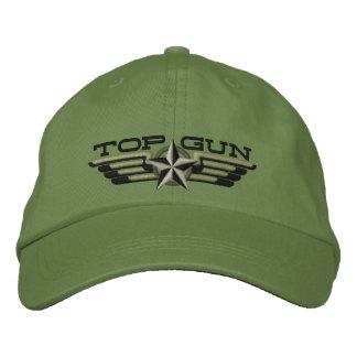 上銃の星のバッジのパイロットの翼 刺繍入りキャップ