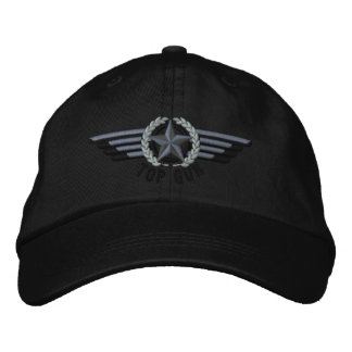 上銃の航空星の月桂樹の試験翼 刺繍入りキャップ