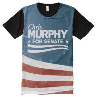 上院のためのクリスマーフィー オールオーバープリントT シャツ