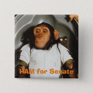 上院のためのハム 5.1CM 正方形バッジ