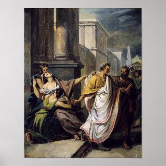 上院への彼の方法のガイウス・ユリウス・カエサル ポスター
