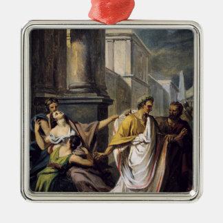 上院への彼の方法のガイウス・ユリウス・カエサル メタルオーナメント