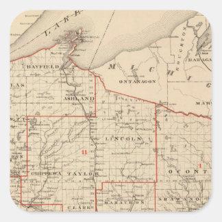 上院議員の地区を示すウィスコンシンの地図 スクエアシール