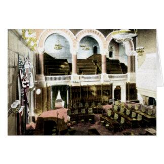 上院部屋のニューヨーク州の国会議事堂アルバニー カード
