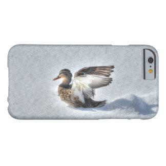 上陸の女性のマガモのアヒルの野性生物の写真 BARELY THERE iPhone 6 ケース