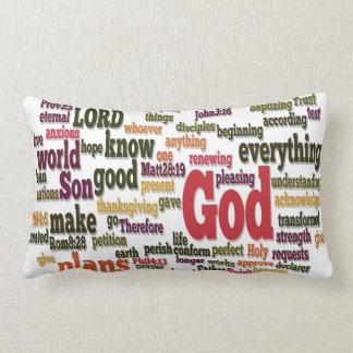 上10の聖書の詩のための単語の雲 ランバークッション