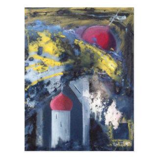 下るタワーの近代美術 ポストカード
