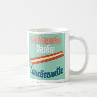 下劣なRasherのLuncheonette コーヒーマグカップ
