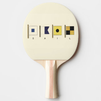 下書かれる帆が付いている4旗の絵画 卓球ラケット