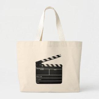 下見板のフィルム映画石板 ラージトートバッグ