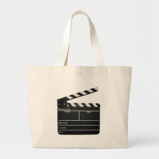 下見板映画石板のクラッパーのフィルム ラージトートバッグ