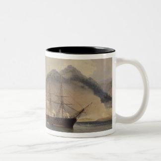 下関の海峡の海戦 ツートーンマグカップ