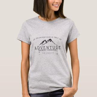 不便のChestertonの引用文の女性のTシャツ Tシャツ
