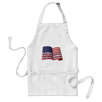 """""""不信仰なアメリカ""""の旗のエプロン スタンダードエプロン"""