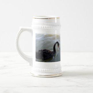 不信、_Black_Swan_Giant Fish_Beer_Stein_Mug ビールジョッキ