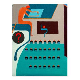 不具にされた手紙-ヘブライ文字 ポストカード