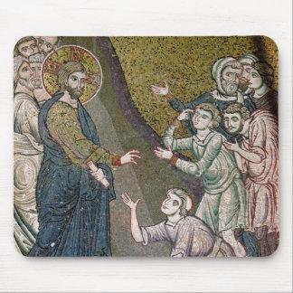 不具にされる直しているイエス・キリストおよび盲人 マウスパッド