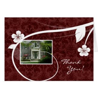 不動産の家は挨拶状の赤感謝していしています カード