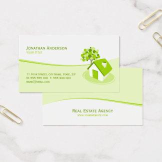 不動産の建築の保険業カード 名刺