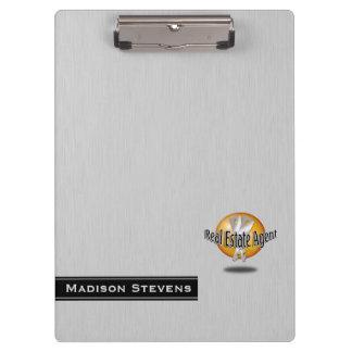 不動産の銀の鍵のロゴのクリップボード クリップボード