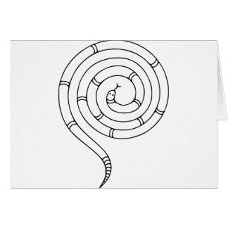 不可能なヘビの目の錯覚 カード