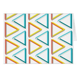 不可能な三角形のオタク系のパターン カード