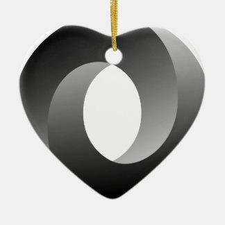 不可能な円の目の錯覚 セラミックオーナメント