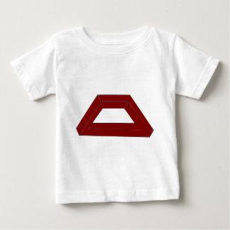 不可能な台形の目の錯覚 ベビーTシャツ