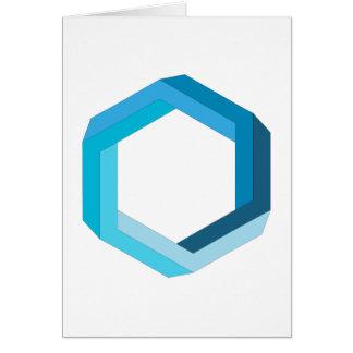 不可能な幾何学: 青い六角形 カード