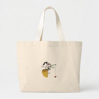 不可能な愛-愛魚釣り ラージトートバッグ