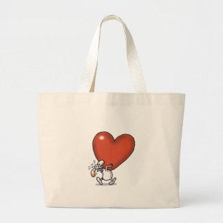 不可能な愛-重い愛 ラージトートバッグ