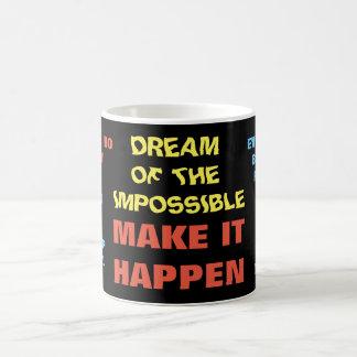 不可能のの夢-引用文のマグ コーヒーマグカップ