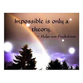 不可能理論の刺激のインスピレーションだけです ポストカード
