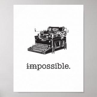 不可能、可能-ポスター ポスター