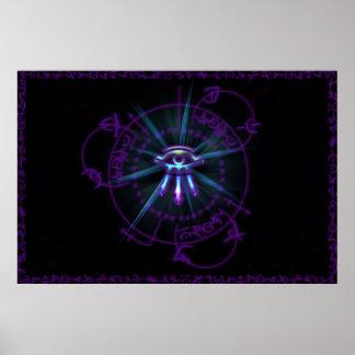 不可解な円の紫色 ポスター