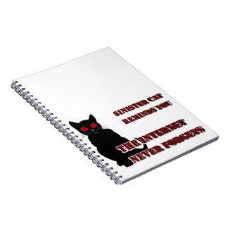 不吉な猫のノート ノートブック