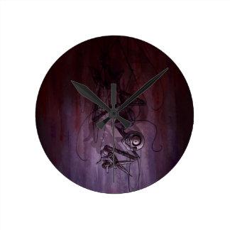 不吉な降下、気色悪いパペット切断のひも ラウンド壁時計