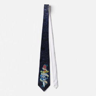不名誉のナイフのデザインの前の死 オリジナルネクタイ