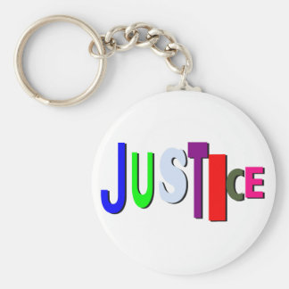 不均等な正義ボタンB キーホルダー