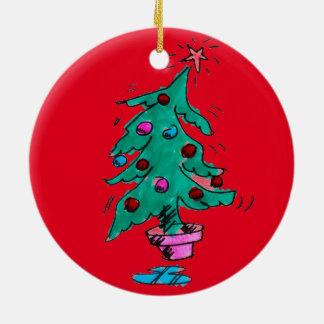 不安定なクリスマスツリーのオーナメント セラミックオーナメント