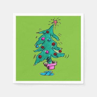 不安定なクリスマスツリーのカクテルのナプキン スタンダードカクテルナプキン