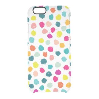 不完全で幸せな色の点 クリアiPhone 6/6Sケース