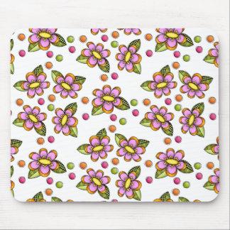 不完全なピンクの花 マウスパッド
