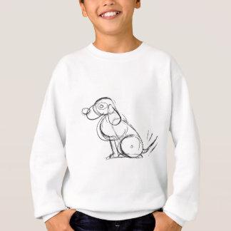 不完全な犬の子供の長袖 スウェットシャツ