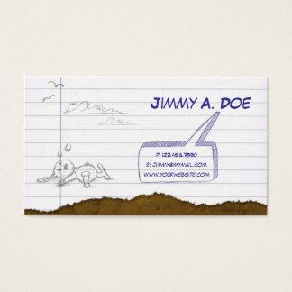 不完全な紙 名刺