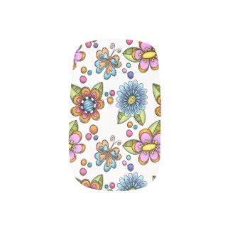 不完全な花及び蝶 ネイルアート