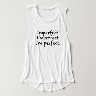 不完全=私は完全です タンクトップ