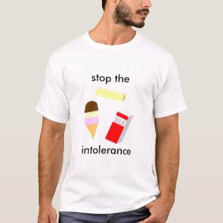 不寛容をストップ Tシャツ
