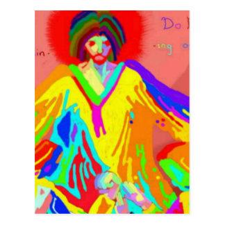 不平および議論のデジタル油絵 ポストカード