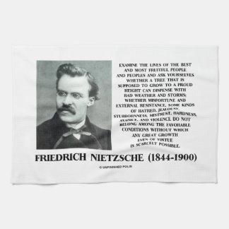 不幸の好ましい状態の成長Nietzsche キッチンタオル
